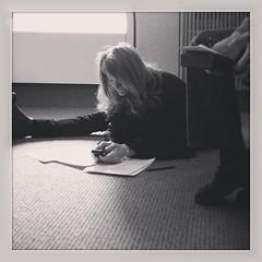 Yes, I do believe @KristaTippett's yoga classes are paying off in our editorial sessions! #onbeing