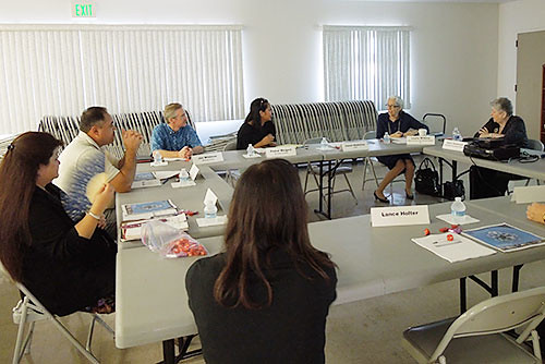 <p>University of Hawaii President M.R.C. Greenwood presents the Hawaii Innovation Initiative (HI2) to the Maui Governor's Advisory Council.</p>