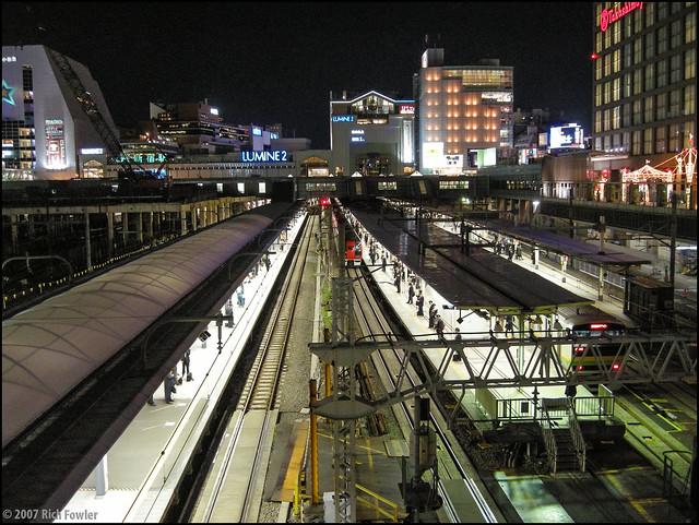 Takashimaya Times Square--View of JR Shinjuku