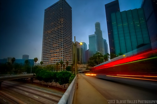 california motion cali downtownla hdr losangelesskyline digitalphotography foggymorning ilovela photomatix sunriselight creativephotography hdrphotography 365project canoneosdigitalslr discoverlosangeles rebelt2i albertvalles beautifulpicturesandcolorsoflosangeles 0343652013