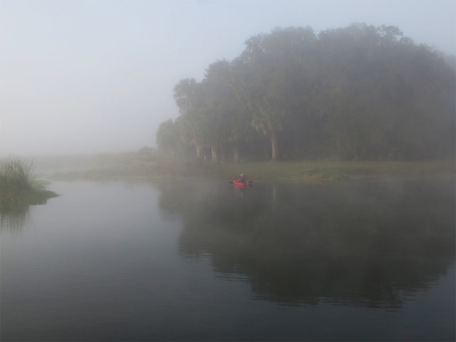 kayak in the fog