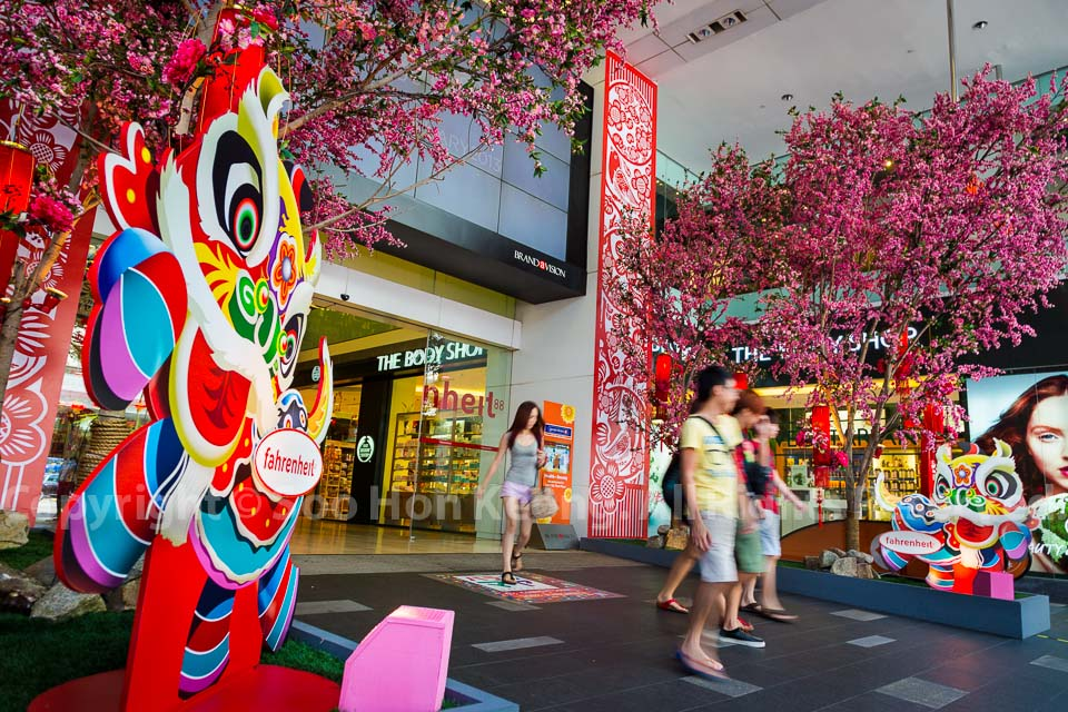 Chinese New Year Decorations @ Fahrenheit88, KL, Malaysia