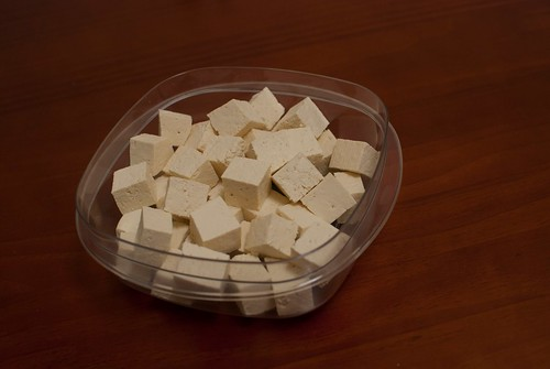 Tofu ready to be marinated!