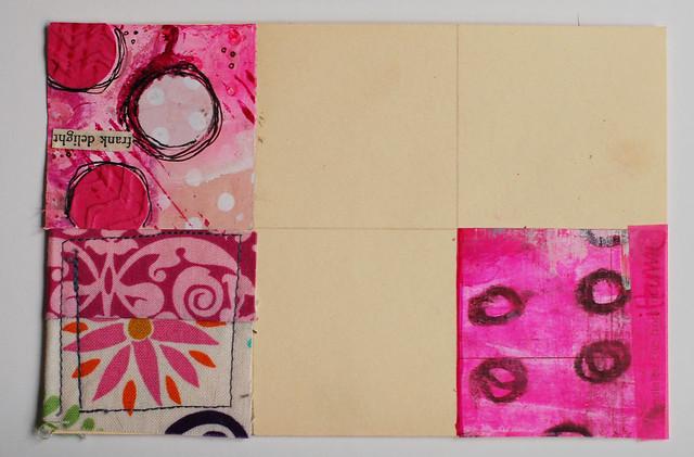 iHanna's Pink Patchwork Postcard
