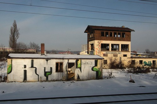 Another abandoned signal box at Regensburg Hbf