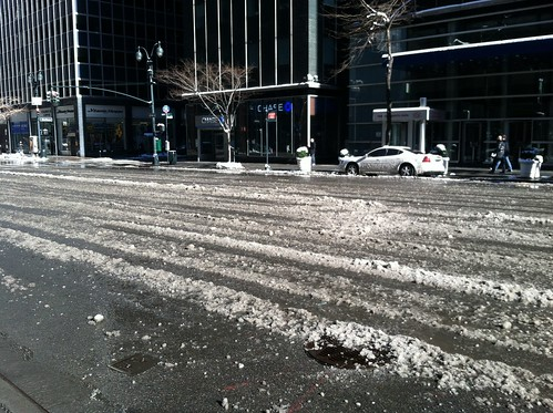 The slush of Third Ave.
