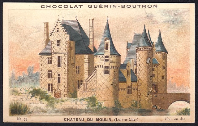 French Tradecard - Chateau du Moulin