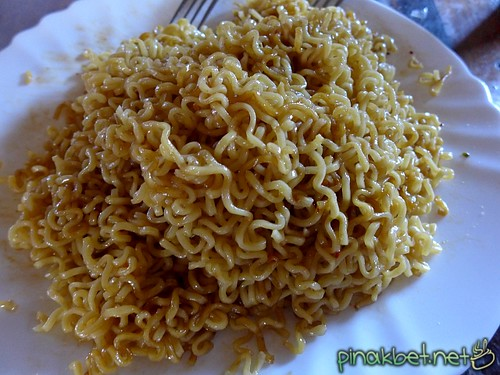 Finished mixing Lucky Me Pancit Canton Sweet & Spicy