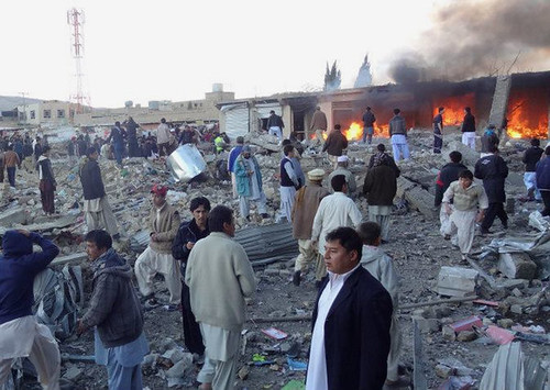 Bombings in Pakistan on Feb. 16, 2013 killed scores and injured many more. Violence against the Shiite population has escalated in recent months. by Pan-African News Wire File Photos