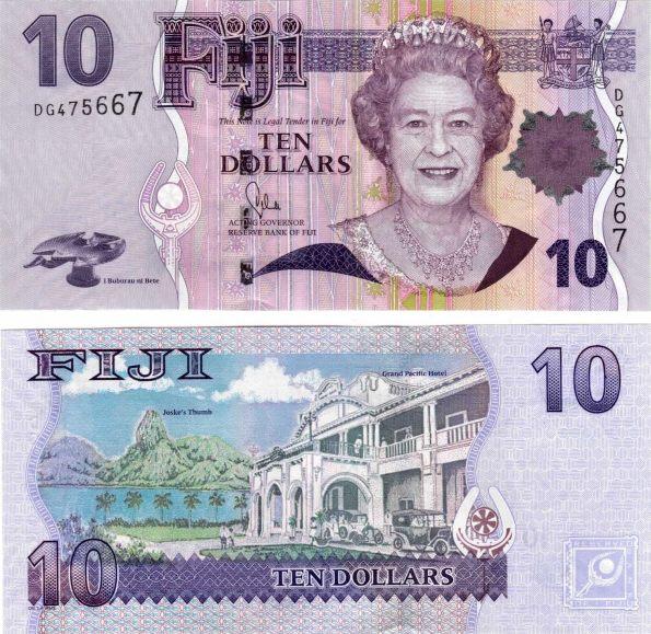 10 Dolárov Fidži 2012