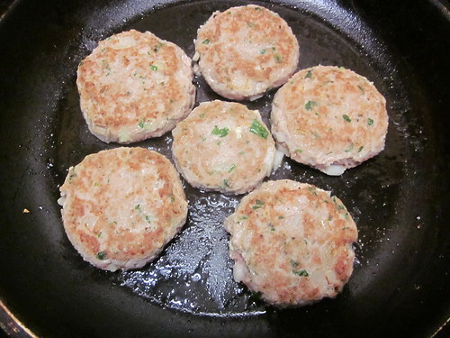 turkey patties seared