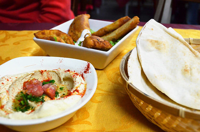 Hummus, Sambousek, Al Amir, Puerto de la Cruz