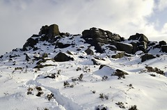 Over Owler Tor - Snow