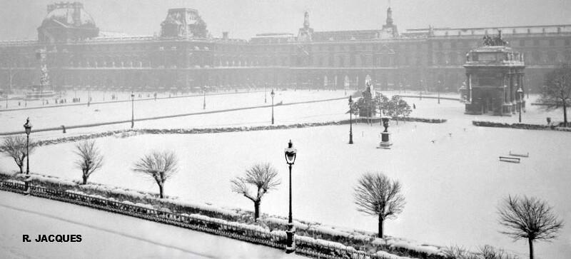 chutes de neige record sur le Palais du Louvre à Paris le 1er mars 1946 météopassion
