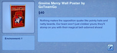 Gnome Mercy Wall Poster by GoTeamGo