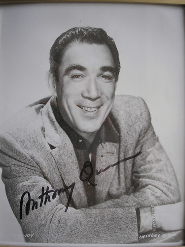 My Signed Photo of Anthony Quinn.