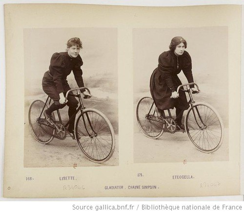 Simpson Chain with two women riders 1896