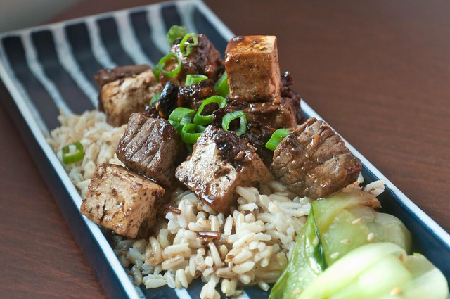 Recipe: Black Garlic Sauce with Spicy Beef and Tofu Stir-Fry | PopArtichoke
