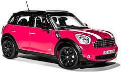 automobile(1.0), automotive exterior(1.0), wheel(1.0), vehicle(1.0), automotive design(1.0), mini e(1.0), compact sport utility vehicle(1.0), mini(1.0), subcompact car(1.0), bumper(1.0), land vehicle(1.0), luxury vehicle(1.0),