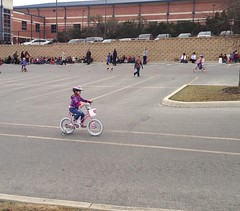 Sara begins her bicycle rodeo course!