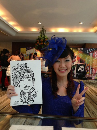 caricature live sketching for Recruit Express Dinner & Dance 2013 - 2