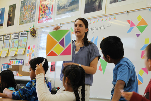 Tangrams for Teachers: Wall Tangrams for Art Classes at Kermit Booker Elementary School, Las Vegas!