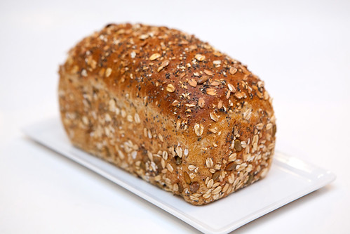 Loaf of cereal bread