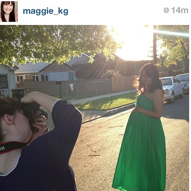 Regram from maternity shoot with @maggie_kg // Also 36 weeks! That's the start of month 9 guys! Eeee!