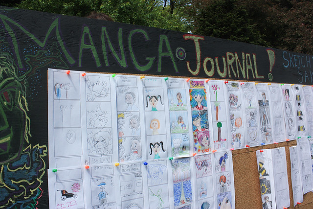BBG J-Lounge Manga Journal Board. Photo by Jean-Marc Grambert.