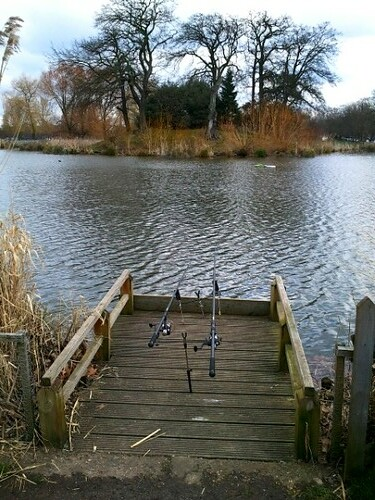 Fishing in London's Clapham Common