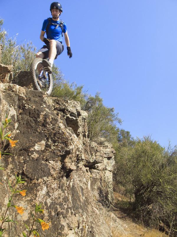 Josh on the cliff edge