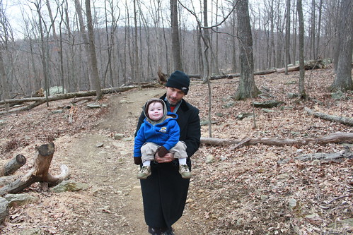 Cunningham Falls - Falls Trail - Hitching a Ride With Daddy