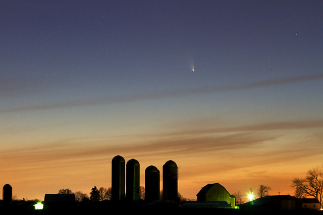 Panstarrs Above the Farm
