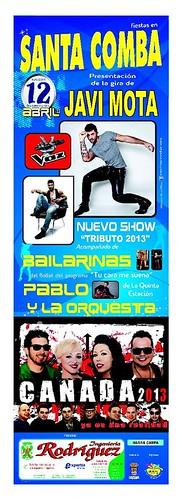Santa Comba 2013 - Presentación xira Javi Mota - cartel