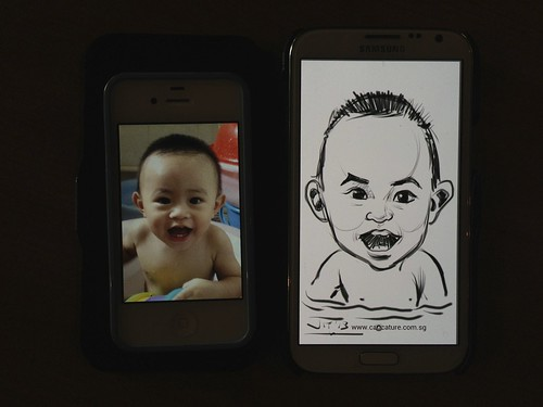 digital caricatures on Samsung Galaxy Note 2 for Stabilo - 8