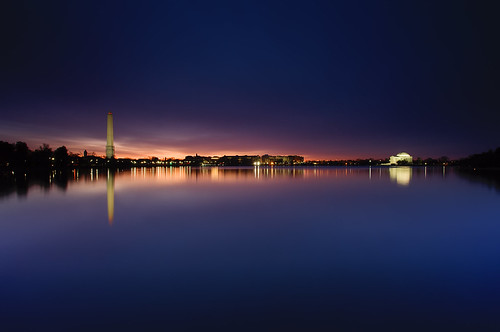 longexposure morning night sunrise reflections dawn washingtondc early clear glowing bluehour monuments tidalbasin verylongexposure ef1740f40lusm singhraydarylbensonrgnd nocherriesyet