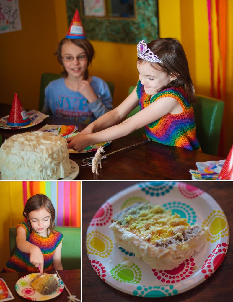 All Natural Rainbow Cake