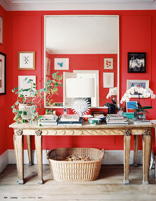 Benjamin Moore Bull's Eye Red, roomlust.blogspot.com
