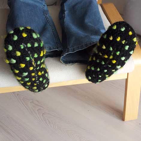 thrummed slippers 2