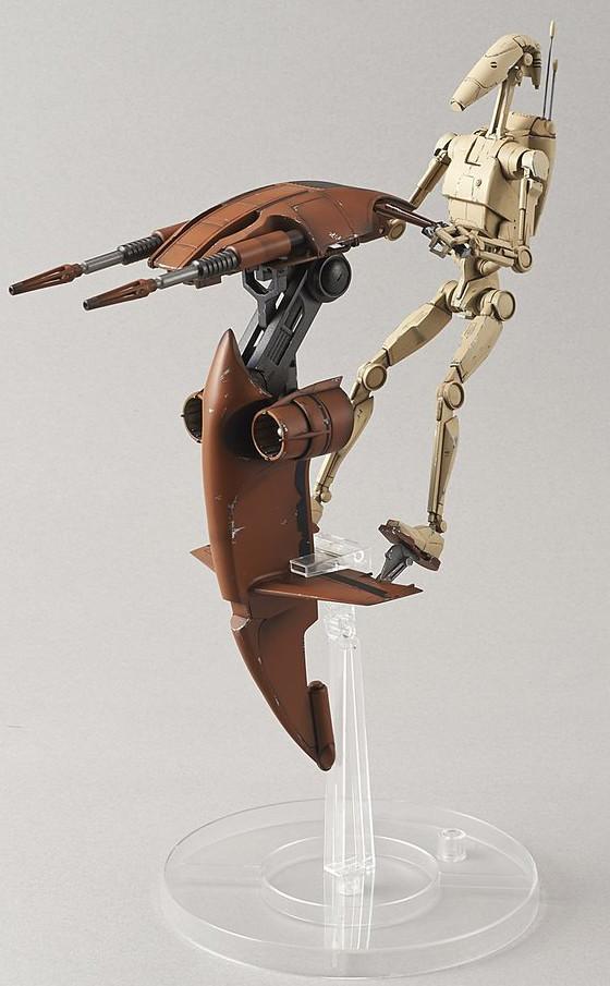《星際大戰》組裝模型系列 –1/12比例  戰鬥機器人& 飛行器 BATTLE DROID & STAP