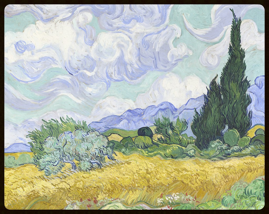 Vincent van Gogh Dutch 1853–1890 Wheat Field with Cypresses Saint-Rémy, early September 1889 oil on canvas 72.5 x 91.5 cm The National Gallery, London ©