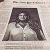 La primera plana del NY Times de hoy: una mujer mexicana que sobrevivió a la violencia institucional brutal del estado mexicano... caso de violencia física, tangible y simbólica que refleja la cultura machista al absurdo de nuestra cultura. Que por cierto