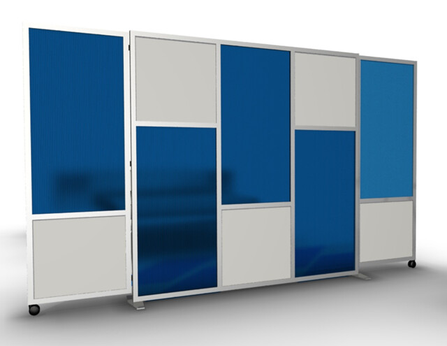Room Divider with Rolling Door Panels | Flickr - Photo Sharing!