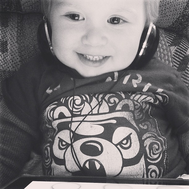 I love how he wears these headphones below his ears. #sixcherries #sixcherrieselijahgabriel