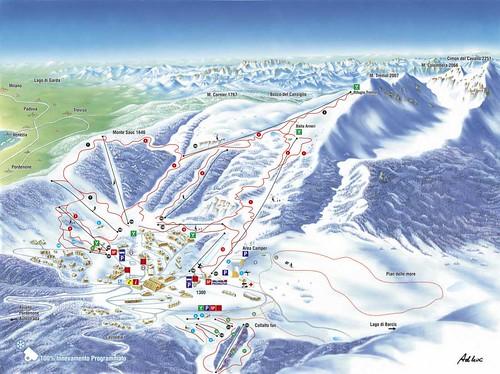 Piancavallo - mapa sjezdovek