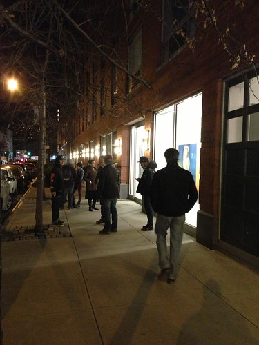 W 24th Street, opening night at galleries