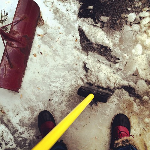 #fromwhereistand - January thaw ice chipping