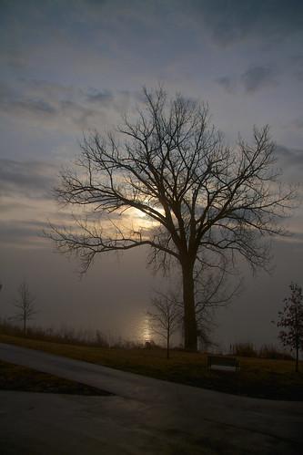 morning ohio fog sunrise river foggy indiana