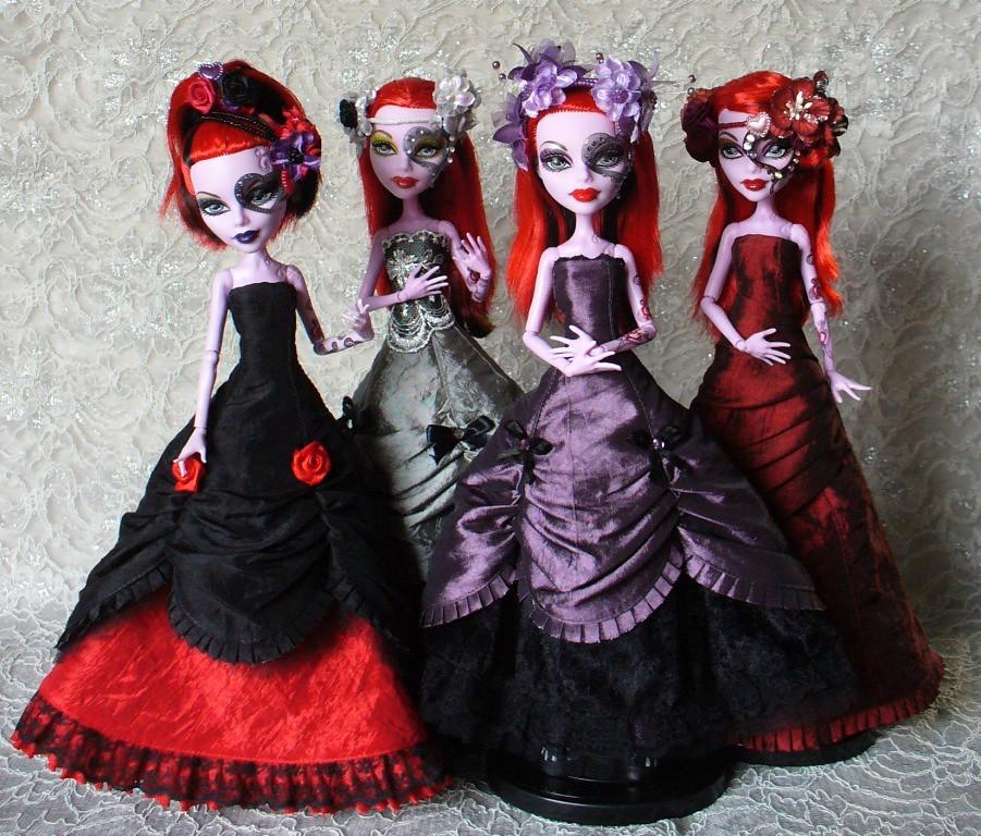 Как сделать бальные платья для кукол монстер хай своими руками