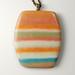 Orange stripe pendant by The Blue Bottle Tree